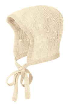 DISANA Bonnet béguin bébé laine Mérinos, blanc