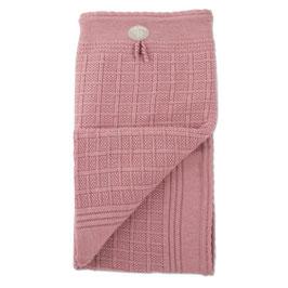 LILLELAM Couverture en laine Mérinos pour bébé, rose heather
