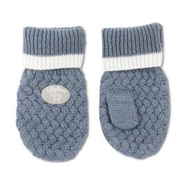LILLELAM Moufles bébé enfant en laine Mérinos, bleu moyen