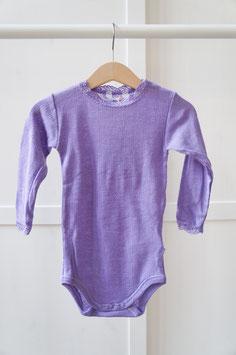 """JOHA Body bébé """"dentelle"""" laine Mérinos et soie, violet"""
