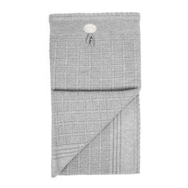 LILLELAM Couverture en laine Mérinos pour bébé, gris