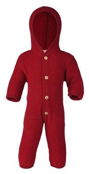 ENGEL Combinaison bébé à capuche laine polaire, rouge