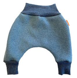 LIVI Pantalon en laine bouillie, modèle sarouel pour bébé, bleu gris
