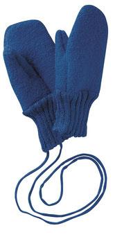 DISANA Moufles bébé laine bouillie, bleu marine