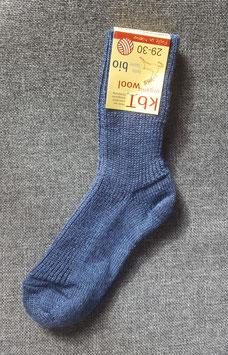 HIRSCH NATUR Chaussettes épaisses pour bébé enfant en laine, bleu chiné 78127