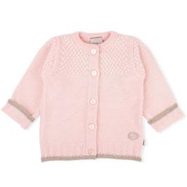 LILLELAM Cardigan bébé et enfant en laine Mérinos, rose clair