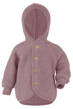 ENGEL Veste bébé à capuche laine polaire, rose pâle