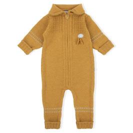LILLELAM Combinaison bébé en laine Mérinos, ocre