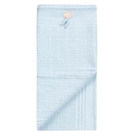 LILLELAM Couverture en laine Mérinos pour bébé, bleu clair