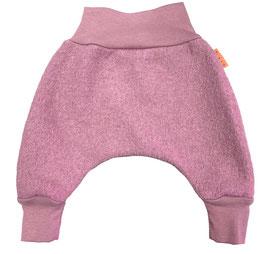 LIVI Pantalon en laine bouillie, modèle sarouel pour bébé, rose