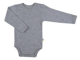 JOHA Body bébé laine Mérinos, gris