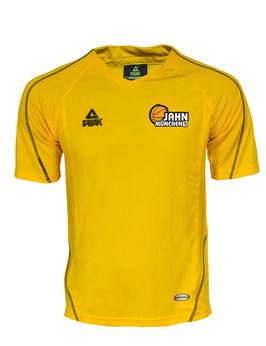 PEAK Shooting Shirt Yellow mit TS Jahn Basketball Logos und Wunschname