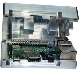 Raspberry Pi 3B+ Premium Aluminium Gehäuse mit Passivkühler