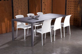 Eettafel aluminium