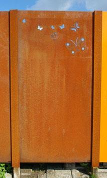 Afdekprofiel t.b.v. afschermen houten paal