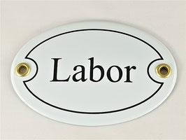 Türschild: Labor