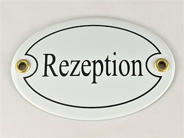 Türschild: Rezeption