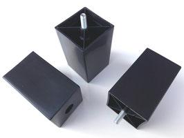 Möbelfuß quadratisch mit Gewinde und Filzgleiter