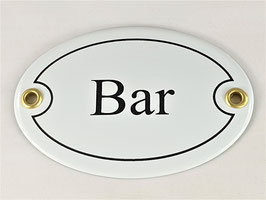 Türschild: Bar