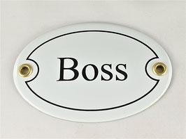 Türschild: Boss
