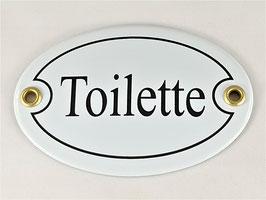 Türschild: Toilette