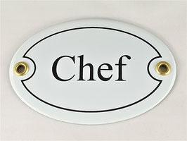 Türschild: Chef