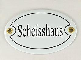 Türschild: Scheisshaus