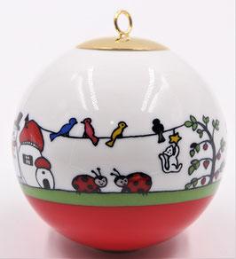 """Boule de Noël """" La maison des coccinelles """""""