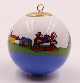 """Boule de Noël """" Les Pompiers"""""""