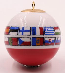 """Boule de Noël """"Les Drapeaux Européens """""""
