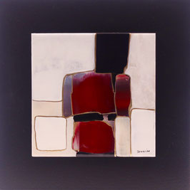 N°4 Tableaux sur Céramique  23x23 cm