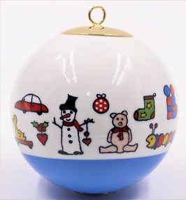"""Boule de Noël """" farandole jouets """""""