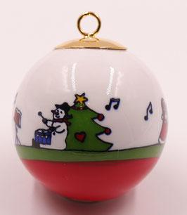 """Boule de Noël """" La Chorale """""""