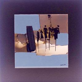 N°2 Tableaux sur Céramique  23x23 cm