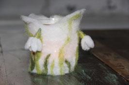 Windlicht «Schneeglöckchen» oder «Tulpe»