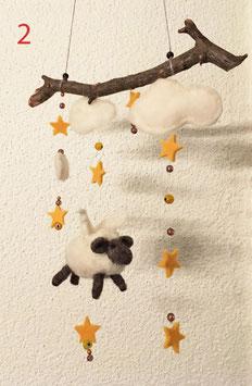 Mobilé «Schutzengel-Schaf» fürs Kinderzimmer