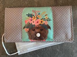 NEU: Stofftasche zur Aufbewahrung von Gesichtsmasken, Sujet Hund