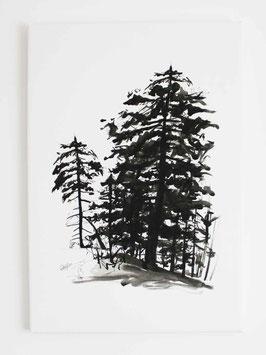 Leinwanddruck Bäume Hochformat