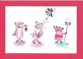 Swissness Grusskarte Schweinefest