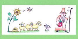 Swissness Panoramakarte Hirte und Schafe