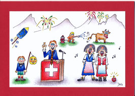Swissness Grusskarte 1. August