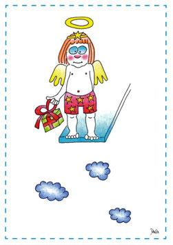 """Engel Postkarte A6 """"Sprungbrett"""""""