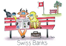 "Swissness Postkarte A6 ""SwissBanks"""
