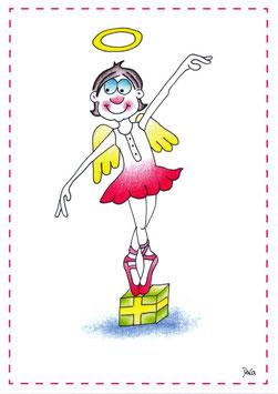 """Engel Postkarte A6 """"Ballett"""""""