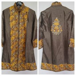 Jacket silk long embroidered JL-004