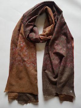 Super fine Cashmere reversible scarf ''JALDAR'' KT-RVR020