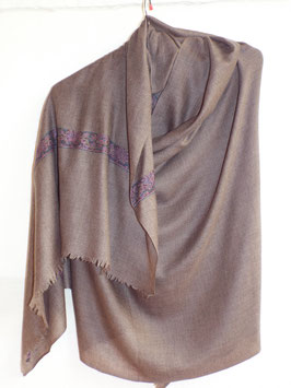 Cashmere Scarf 75x200cm natural brown 107-c