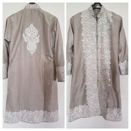 Jacket silk long embroidered JL-003