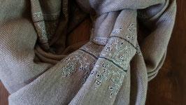 "Fine Cashmere leaf design scarf ""THARIDAR"" (MPTHARIDAR-239)"