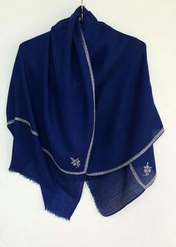 Cashmere Scarf 75x200cm dark royal blue Kt 048